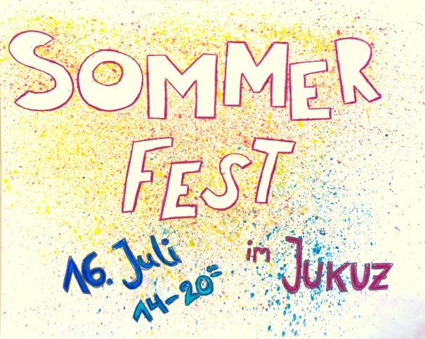 Vorderseite Flyer Sommerfest